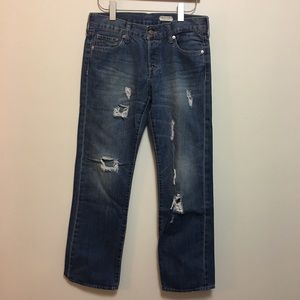 H&M Distressed Boyfriend Denim Jeans